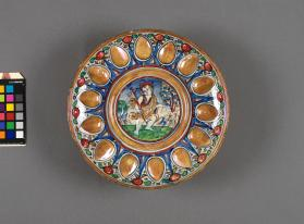 Moulded Bowl (coppa) (coupe) with a depiction of 'The Young Saint John the Baptist'