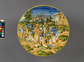 Plate (piatto) depicting 'Christ and His Captors'