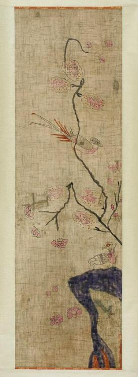 Painting of birds and pomegranate tree 민화 유압도