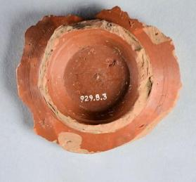 Fragment from the base of a Samian ware cup