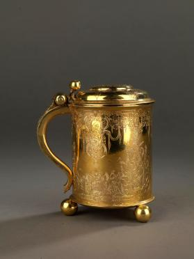 Silver tankard with inscription