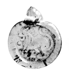 Pendant with lion motif
