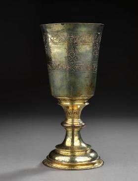 Silver gilt communion cup with cover