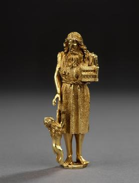 Silver-gilt figure of St. Jerome