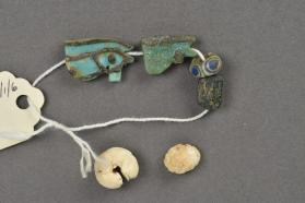 Amulets (wadjet eyes) and beads