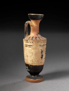 Attic white-ground lekythos with palmette pattern