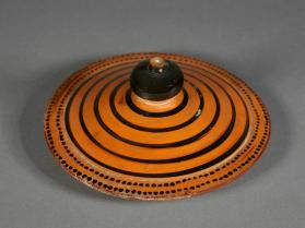 Black figure amphora lid