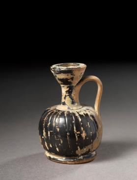 Attic black-gloss squat lekythos