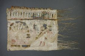 Votive textile depicting offerings to the Hathor cow