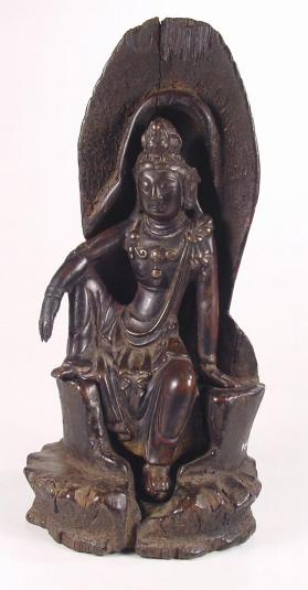 Figure of Guanyin (Avalokiteshvara) with stand