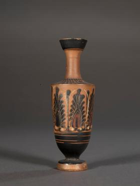 Attic black-figure lekythos decorated with palmettes