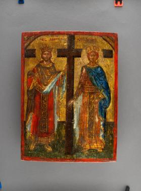 "Icon, ""Constantine and St. Helena by the Cross"""