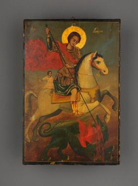 Icon of St George Killing the Dragon