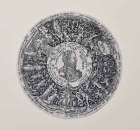 Design for engraved metal bowl depicting William of Orange as Commander of Wisdom