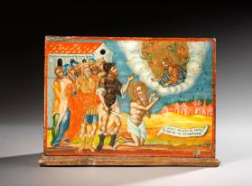 Collection box depicting the legend of St. Charalambos