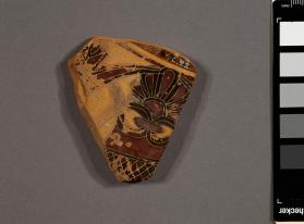 Fragment of an Attic black-figure mixing-bowl showing a lotus pattern