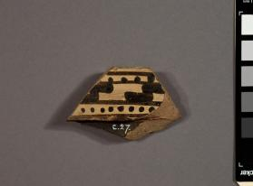 Rim fragment of a Lakonian krater hook and dot decoration