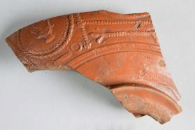 Base fragment from a Samian ware bowl