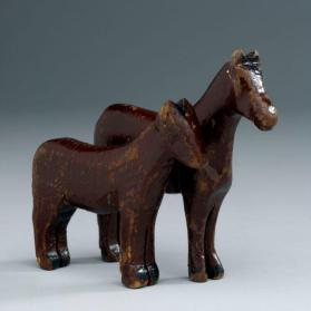 Noah's ark figures: pair of horses