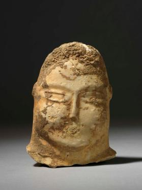 Head from abstract figurine