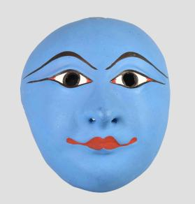 Seraikela Chhau Dance Mask of Krishna