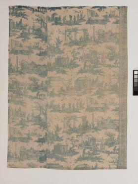 Textile fragment entitled Les Travaux de la Manufacture