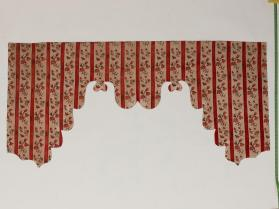 Valance for the side of a bed