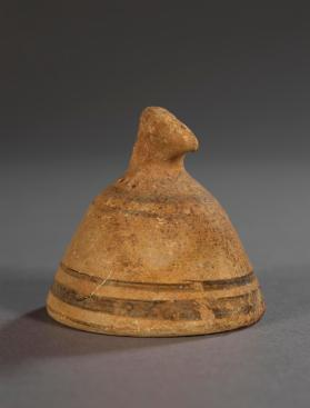 Small clay bell or bell-shaped vessel