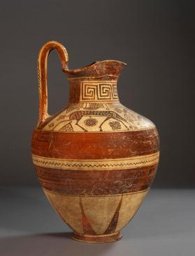 East Greek oinochoe decorated in 'Wild Goat' style with grazing deer