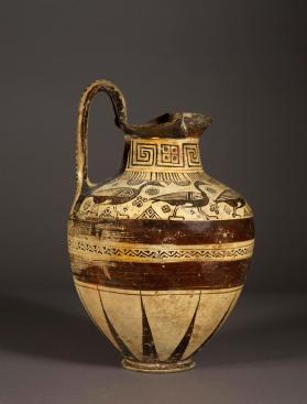East Greek oinochoe decorated in 'Wild Goat' style with birds