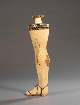 East Greek 'plastic vase' in the form of a human leg