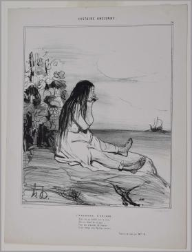 L'Abandon d'Ariane. Plate 24, from the series Histoire ancienne