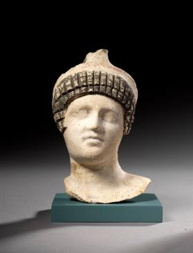 Head from a fragmentary female figure