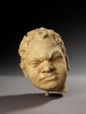 Head of young man, fragmentary statue