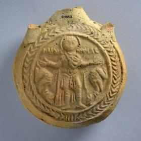 Flask with St. Menas