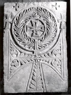 Tombstone with Coptic ankh-shaped cross