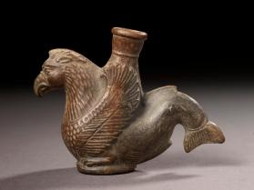 """Plastic"" vase with body of griffin and tail of a dolphin"