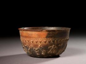 Megarian bowl with Erotes, birds, leaves, and egg-and-dart motifs