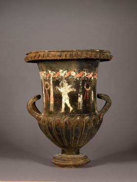 South Italian black-gloss Calyx-krater showing Eros