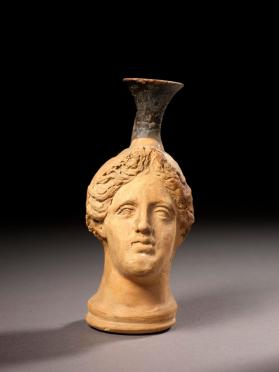 'Plastic' lekythos in the form of a woman's head
