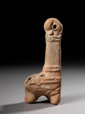 Ptolemaic suspension oil lamp shaped as a stylized boot