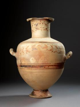 'Hadra' Hydria used as a cinerary urn
