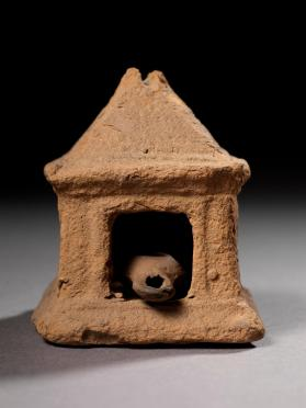 'Lamp house' in the form of a small shrine