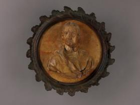 Portrait medallion of Oliver Cromwell (English, 1599-1658)
