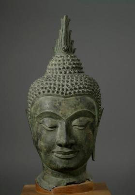 Figure of Buddha (fragment - head)