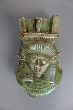 Sistrum with double faced Hathor head