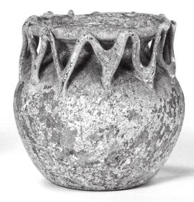 Jar with trailed decoration in a zig-zag pattern