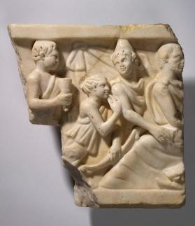 Sarcophagus relief depicting the myth of Meleager