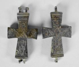 Hinged reliquary cross