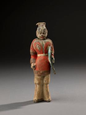 Burial figure of a soldier with a shield